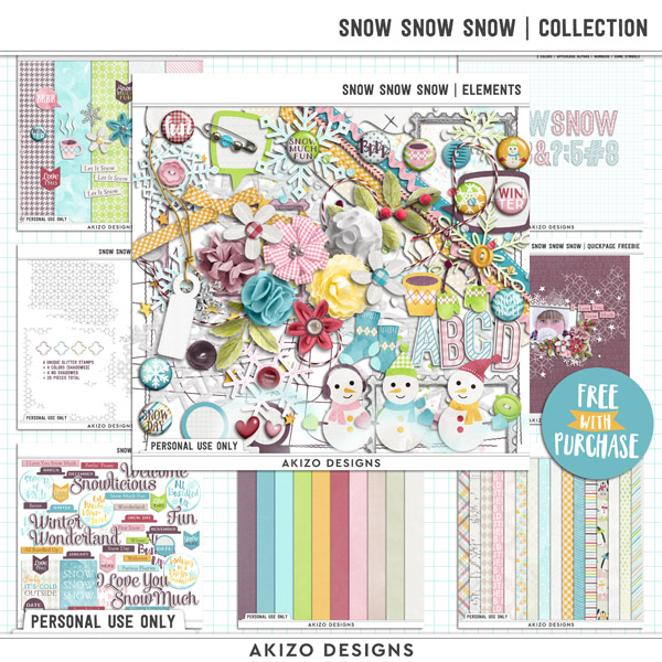 Snow Snow Snow | Collection by Akizo Designs