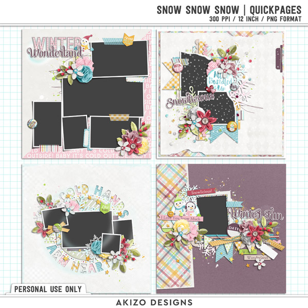 Snow Snow Snow | Quickpages by Akizo Designs
