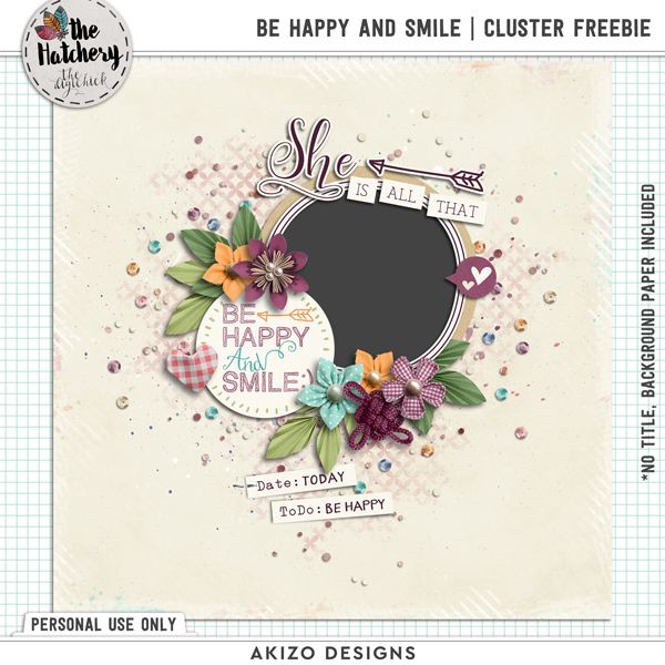 Be Happy And Smile Cluster