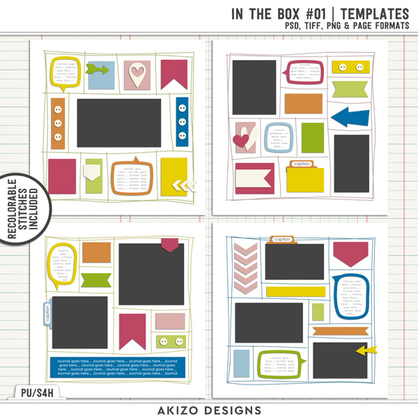 In The Box 01 | Templates by Akizo Designs