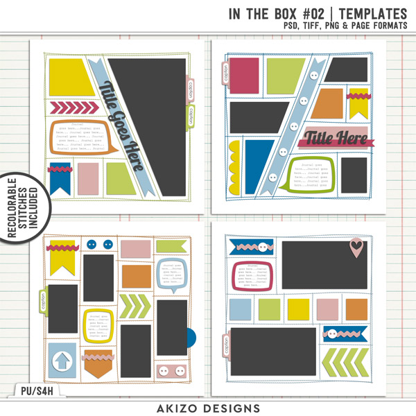 In The Box 02 | Templates by Akizo Designs