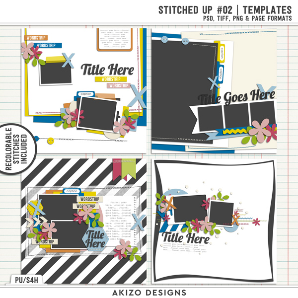Stitched Up 02 | Templates by Akizo Designs