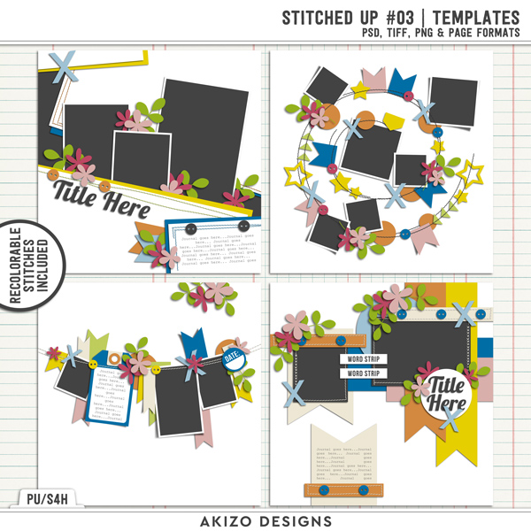 Stitched Up 03 | Templates by Akizo Designs