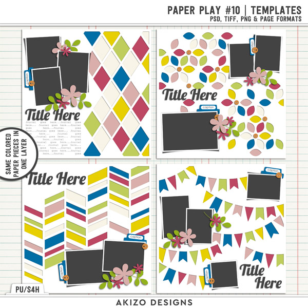 Paper Play 10 | Templates by Akizo Designs