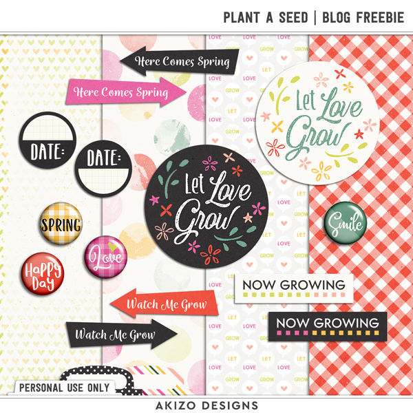 Plant A Seed | Blog Freeble by Akizo Designs