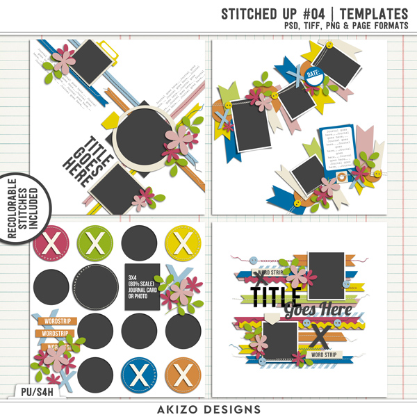 Stitched Up 04 | Templates by Akizo Designs