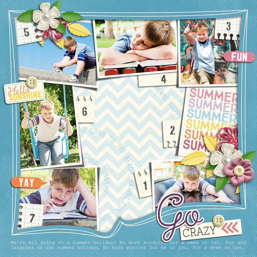 Layout Sample of Photo Addict 01 | Templates