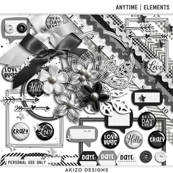 Anytime | Elements by Akizo Designs | Digital Scrapbooking