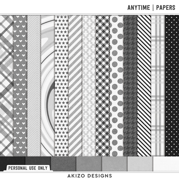 Anytime | Papers by Akizo Designs | Digital Scrapbooking