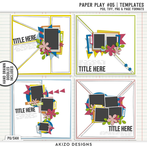Paper Play 05 | Templates by Akizo Designs