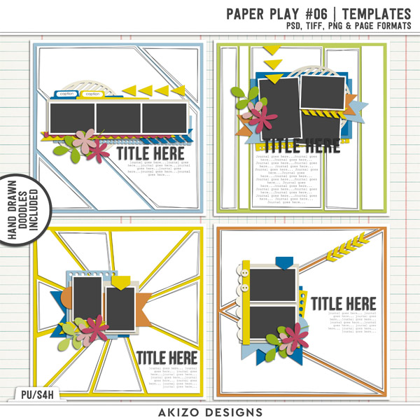 Paper Play 06 | Templates by Akizo Designs