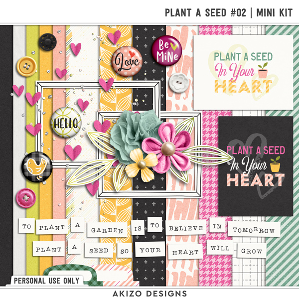 Plant A Seed 02 | Mini Kit by Akizo Designs | Digital Scrapbooking
