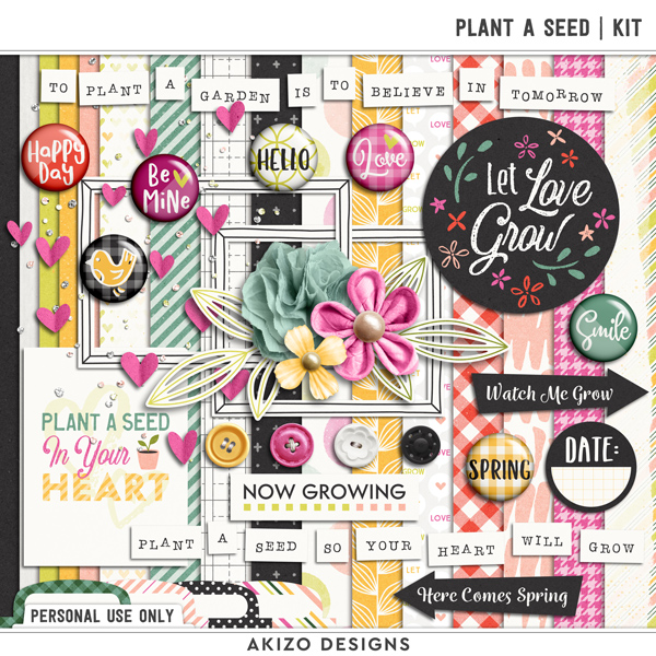 Plant A Seed | Kit by Akizo Designs | Digital Scrapbooking