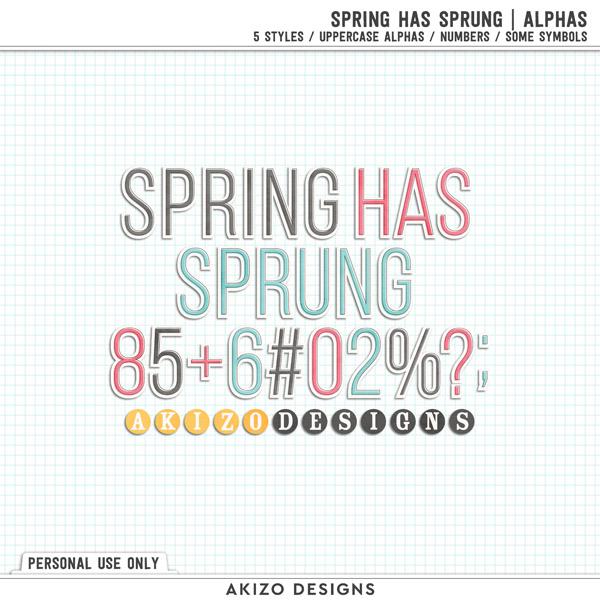 Spring Has Sprung | Alphas by Akizo Designs
