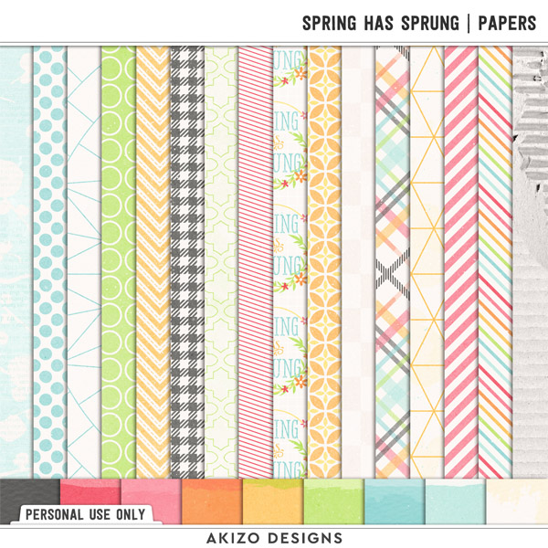Spring Has Sprung | Papers by Akizo Designs