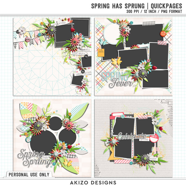 Spring Has Sprung | Quickpages by Akizo Designs