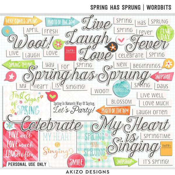 Spring Has Sprung | Wordbits by Akizo Designs