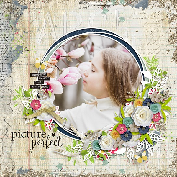 Layout Sample of Spring Leaves 04 | Templates