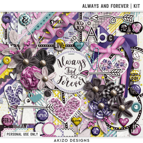 Always And Forever   Kit by Akizo Designs   Digital Scrapbooking