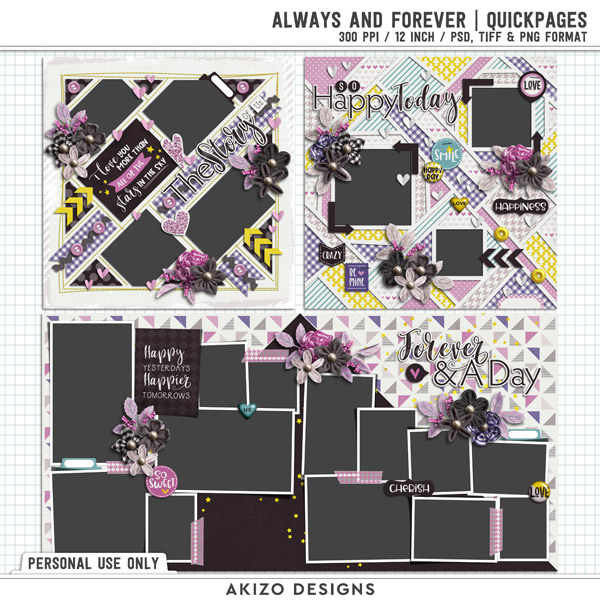 Always And Forever   Quickpages by Akizo Designs