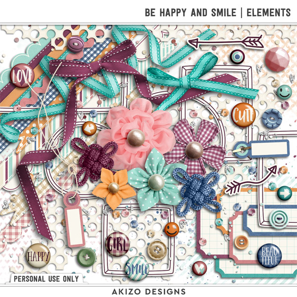 Be Happy And Smile | Elements by Akizo Designs