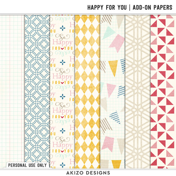 Happy For You | Add-on Papers by Akizo Designs