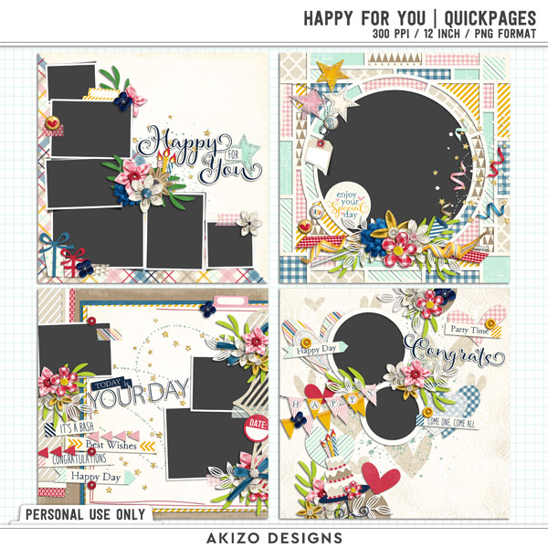Happy For You | Quickpages by Akizo Designs
