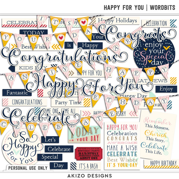 Happy For You | Wordbits by Akizo Designs
