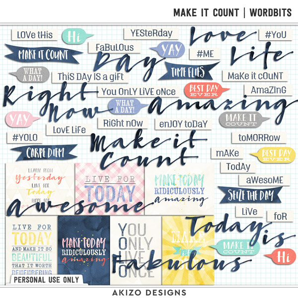 Make It Count | Wordbits by Akizo Designs