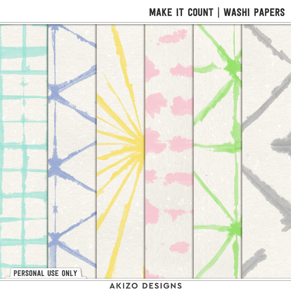 Make It Count | Washi Papers by Akizo Designs