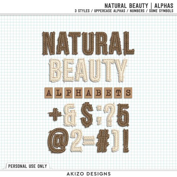 Natural Beauty | Alphas by Akizo Designs | Digital Scrapbooking