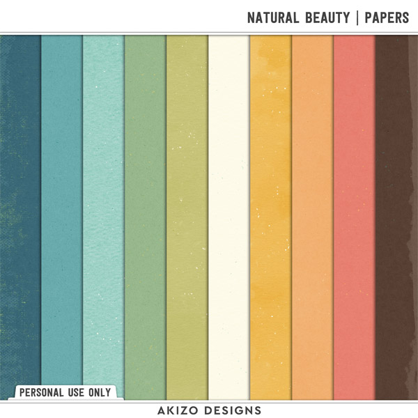 Natural Beauty   Papers by Akizo Designs   Digital Scrapbooking