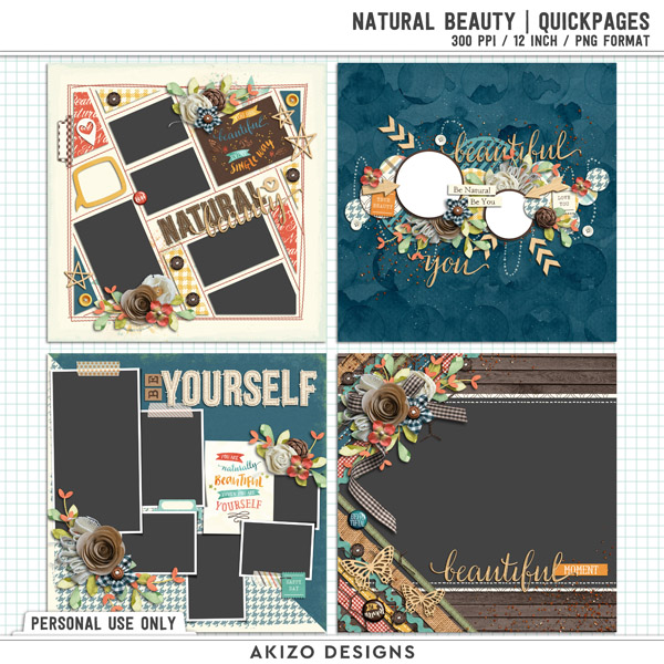 Natural Beauty | Quickpages by Akizo Designs