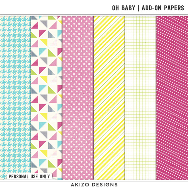 Oh Baby | Add-on Papers by Akizo Designs
