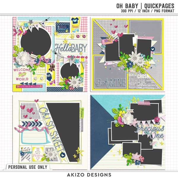 Oh Baby | Quickpages by Akizo Designs