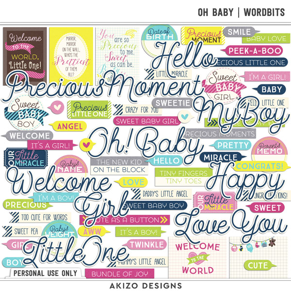 Oh Baby | Wordbits by Akizo Designs