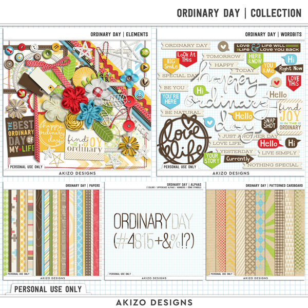Ordinary Day | Collection by Akizo Designs (digital scrapbooking)