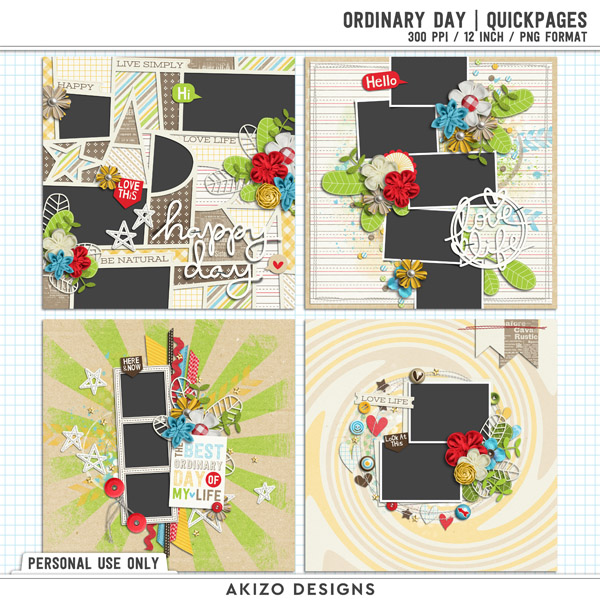 Ordinary Day | Quickpages by Akizo Designs (digital scrapbooking)