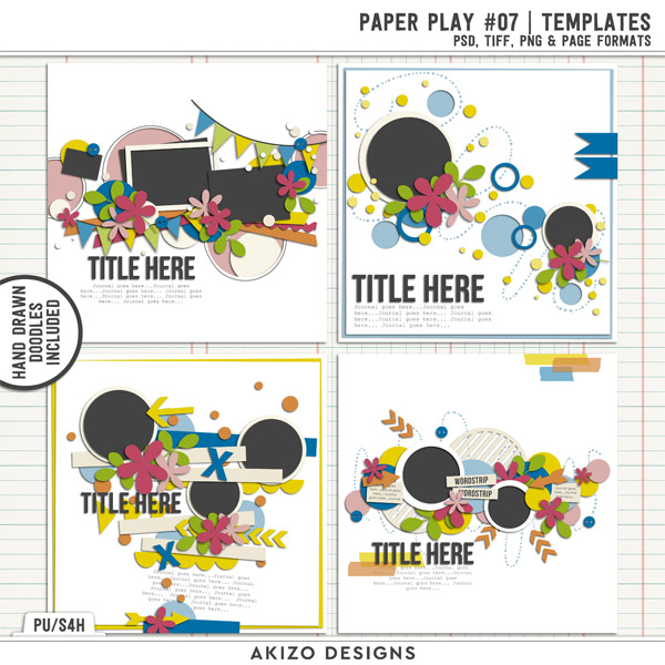 Paper Play 07 | Templates by Akizo Designs