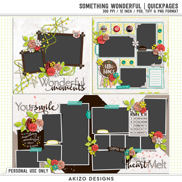Something Wonderful | Quickpages by Akizo Designs
