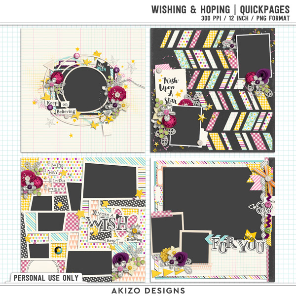 Wishing And Hoping | Quickpages by Akizo Designs