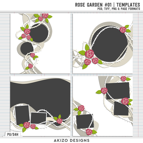 Rose Garden 01 | Templates by Akizo Designs