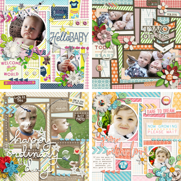 Layout Sample of Crazy Squares 05 | Templates