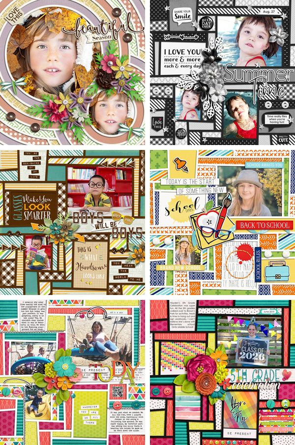 Layout Sample of Crazy Squares 09 | Templates
