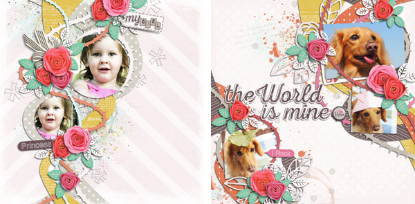 Layout Sample of Rose Garden 01 | Templates