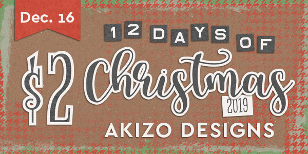 $2 - 12 Days of Xmas | Akizo Designs | Digital Scrapbooking