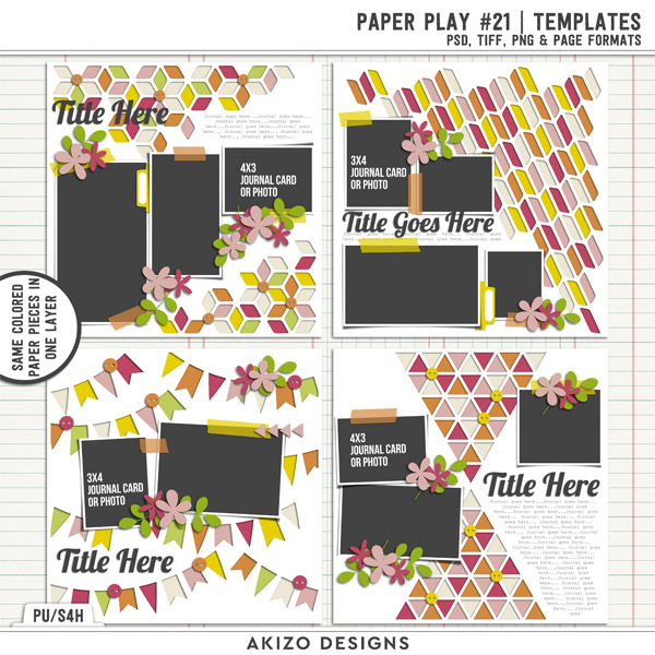 Paper Play 21 | Templates by Akizo Designs