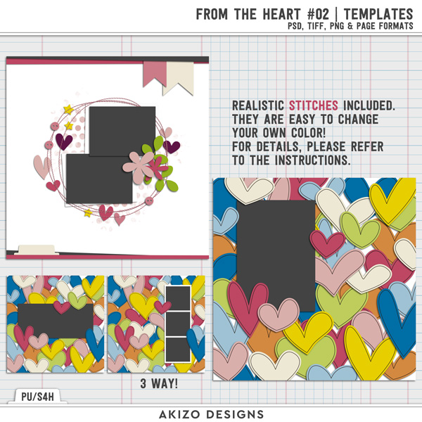 From The Heart 02 | Templates by Akizo Designs
