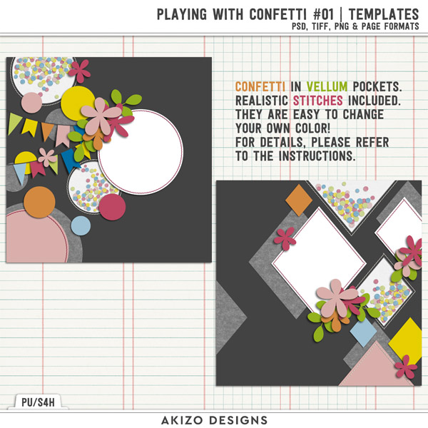 Playing With Confetti 01 | Templates by Akizo Designs