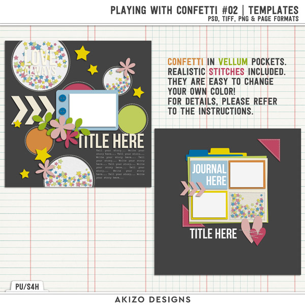 Playing With Confetti 02 | Templates by Akizo Designs
